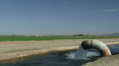 Desert Irrigation Canals, Farmland - 08 Stock Footage