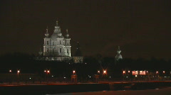 Smolny cathedral - stock footage
