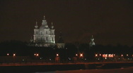 Smolny cathedral Stock Footage