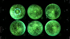 Radar array searching for target Stock Footage