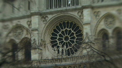 Zoom out on Notre Dame, Paris Stock Footage