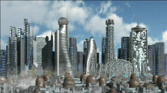Stock Video Footage of Sci-Fi City
