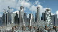 Sci-Fi City Stock Footage