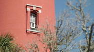 Stock Video Footage of Red Lighthouse Window Tree RACK