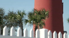Red Lighthouse TILT - stock footage