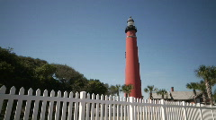 Red Lighthouse WIDE Stock Footage