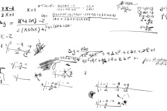 Math Equations Scribbling  Design Element NTSC - stock footage