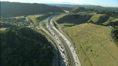 Aerial View of Rural Freeway Traffic  Stock Footage