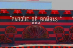 Puerto Rico - Ponce: Fire House Museum at Plaza las Delicias 2/3 Stock Footage