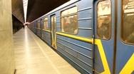 Ukrainian underground station Stock Footage