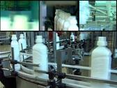 Conveyor Belt - Multi Screen Stock Footage