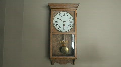 Pendulum Wall Clock - stock footage