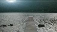 Kids swimming in mountain lake Stock Footage