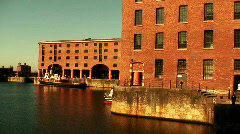Albert Dock Liverpool, opened in 1846 - stock footage