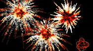 Explosion sparklers background Stock Footage