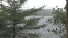 Rainy Day at the Cottage Stock Footage