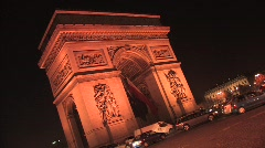 Arc de Triomphe de l'Etoile in Paris Stock Footage