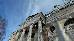 Abandoned church and sky time lapse - stock footage