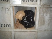 Stock Video Footage of Skull,bones, and voodoo in cemetery 2/12
