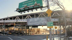 Queens New York Sign Stock Footage