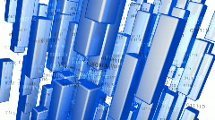 Blue Data Background - Motion Background 12 (HD) Stock Footage