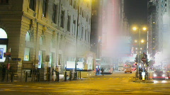 Time lapse of Nathan Road in Hong Kong Stock Footage