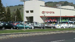 Toyota Car Lot Sequence Stock Footage