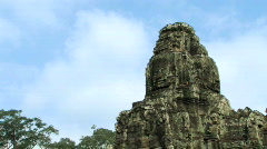 Bayon Temple at Angkor, Cambodia Stock Footage