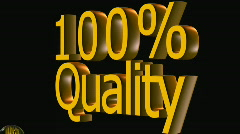 100 percent quality - stock footage