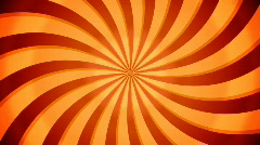 Rotate swirl beams. Orange color. Loop - stock footage