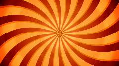 Rotate swirl beams. Orange color. Loop Stock Footage
