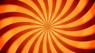Stock Video Footage of Rotate swirl beams. Orange color. Loop