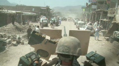 Military: Special Forces Soldier on Patrol in Afghanistan c Stock Footage