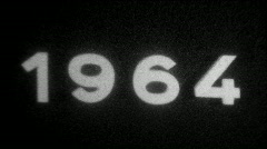 Year 1964 typography - Vintage 8mm Film Leader - stock footage