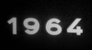 Stock Video Footage of Year 1964 typography - Vintage 8mm Film Leader