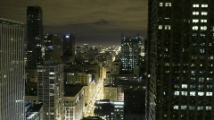 Downtown Chicago at Night - stock footage