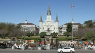 Jackson Square, New Orleans Stock Footage