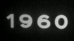 Year 1960 typography - Vintage 8mm Film Leader Stock Footage