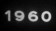Year 1960 typography - Vintage 8mm Film Leader Stock Footage