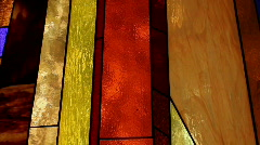Stained Glass Color Change Stock Footage