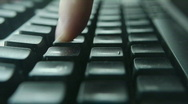 HD1080p Slow typing on a keyboard. Stock Footage
