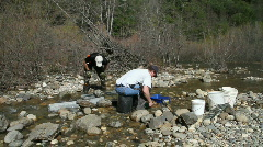 Gold prospector, b Stock Footage