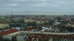 Time laps, Wide shot, Darkness over Prague, Czech Stock Footage