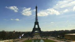 Wide shot,  Eiffel Tower, Paris France Stock Footage