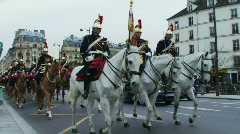 Low angle view on Horse Parade, Paris France Stock Footage