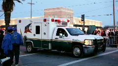 Arcadia ambulance in Endymion parade Stock Footage