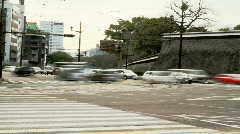 Japanese Intersection (Time Lapse) Stock Footage