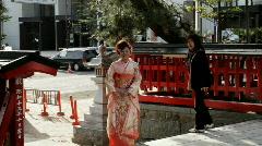 Girl in Kimono - stock footage