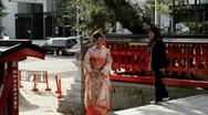 Girl in Kimono Stock Footage