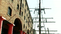 Albert Dock Liverpool, opened in 1846 Stock Footage